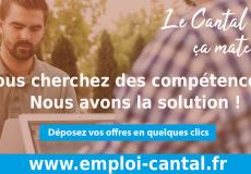 Optimisez vos recrutements  sur la Plateforme Emploi Cantal !