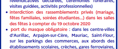 COVID-19 : le Cantal passe en état d'urgence sanitaire